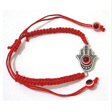 Hot ! 1pcs Hamsa Hand Evil Eye Red String Kabbalah Bracelet with Revolving Lucky Adjustable zx1