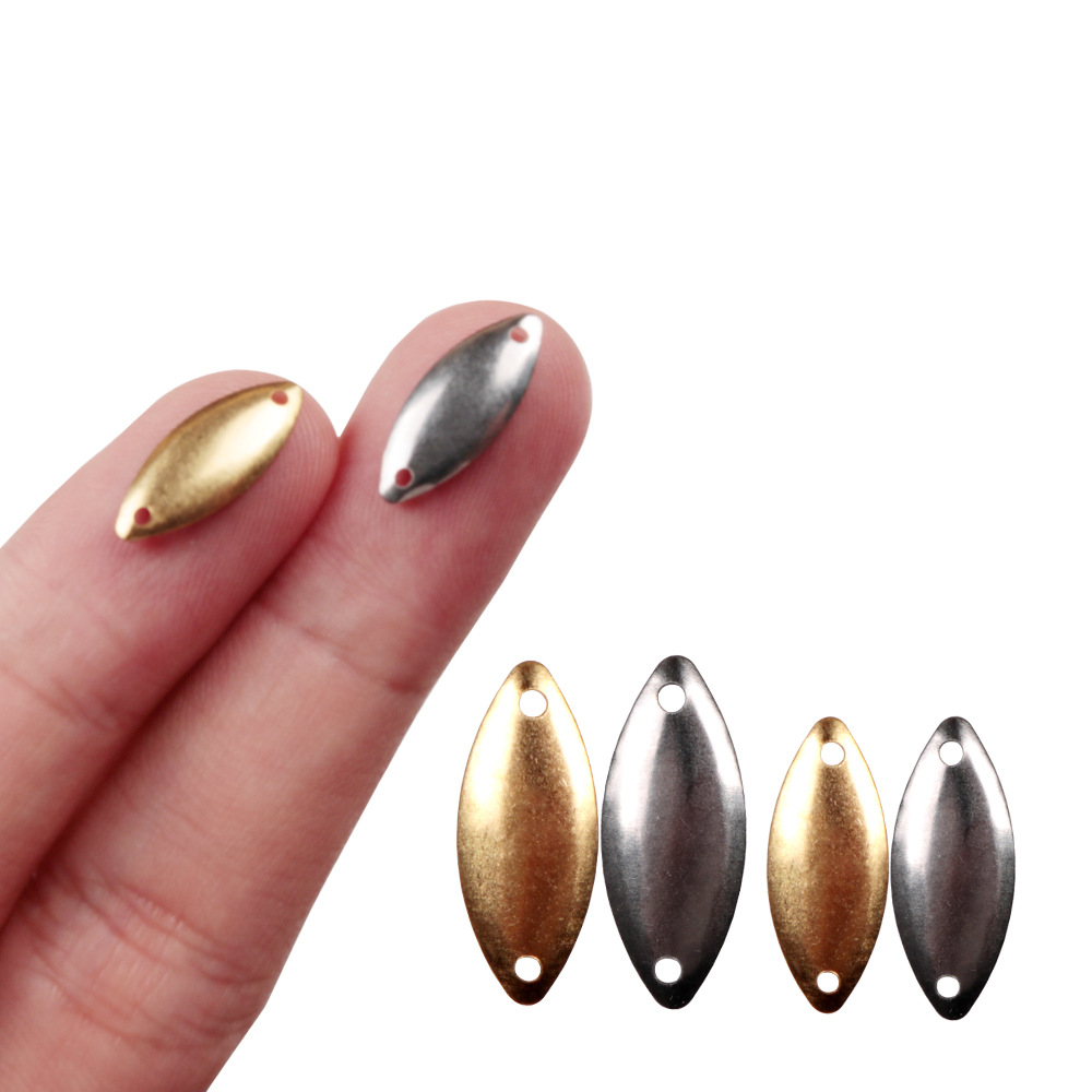 100pcs Trout Spoon Baits Fishing Lures Wobblers Sequins Metal jig Mini lure without Hook For Carp Fishing Topwater Pesca Isca image