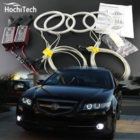 HochiTech Excellent Angel Eyes Kit For Acura TSX 2009 2010 2011 2012 Ultra Bright Headlight Illumination