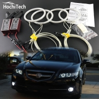 HochiTech Excellent Angel Eyes Kit For Acura TSX 2009 2010 2011 2012 Ultra Bright Headlight Illumination