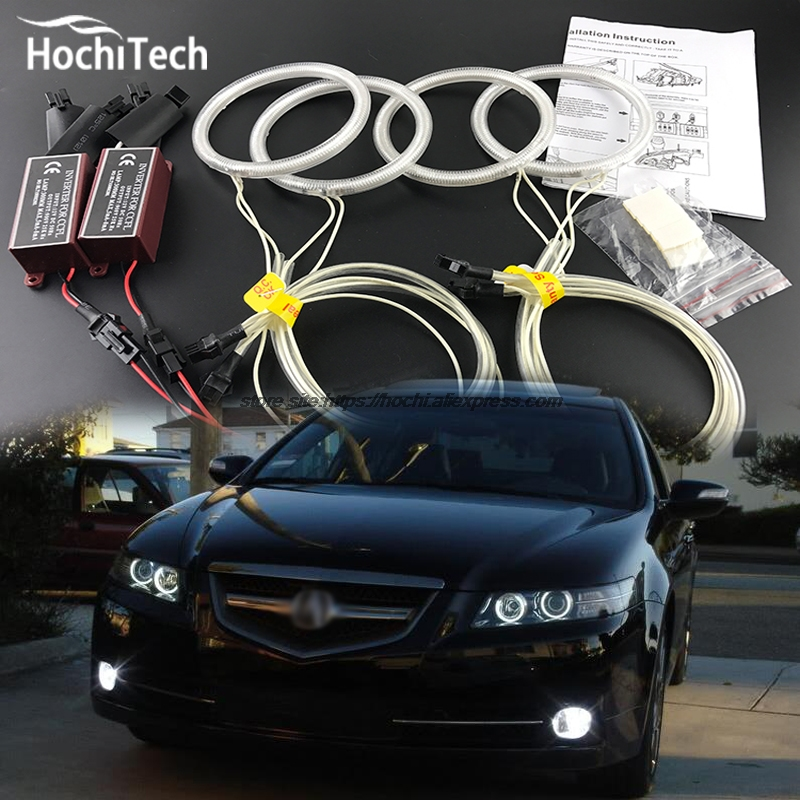 HochiTech Excellent Angel Eyes Kit for Acura TSX 2009 2010 2011 2012 Ultra bright headlight illumination CCFL Angel Eyes kit hochitech white 6000k ccfl headlight halo angel demon eyes kit angel eyes light for vw volkswagen golf 5 mk5 2003 2009