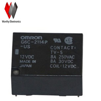 wholesale   10PCS/lot    relay    G6C-2114P-US-12VDC
