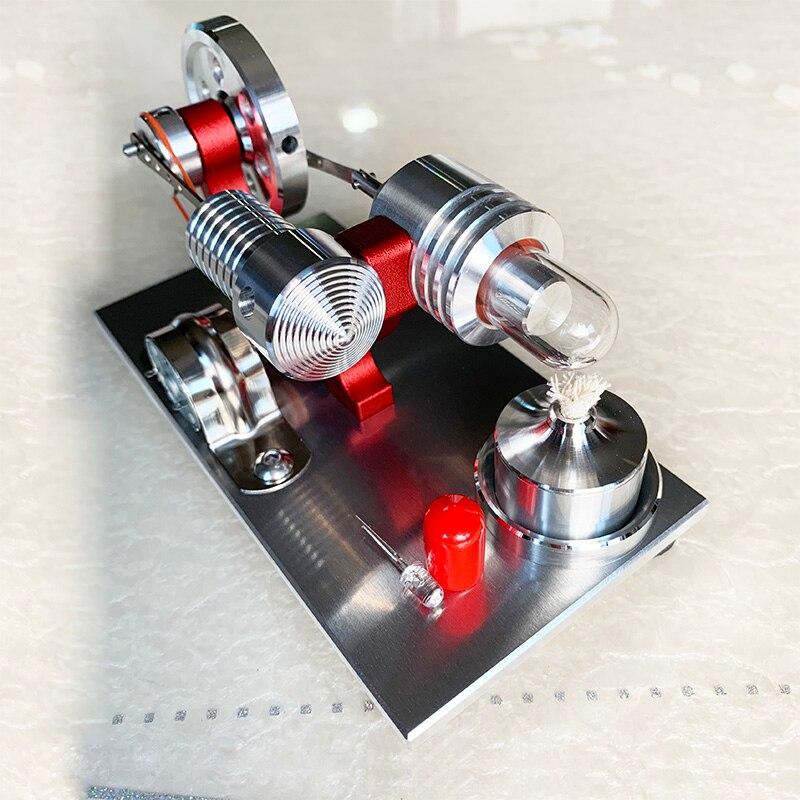 Stirling moteur générateur moteur micro moteur modèle moteur à vapeur passe-temps cadeau d'anniversaire