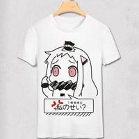 Kantai Collection T Shirt Men Women Unique Anime T Shirt KanColle Animation Original Design Eyebrows On