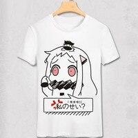 Kantai Koleksiyonu anime T Shirt Benzersiz parti yağma anime T-shirt Bro Geek Orijinal Hipster Comic tshirt marvel beyaz homme gömlek