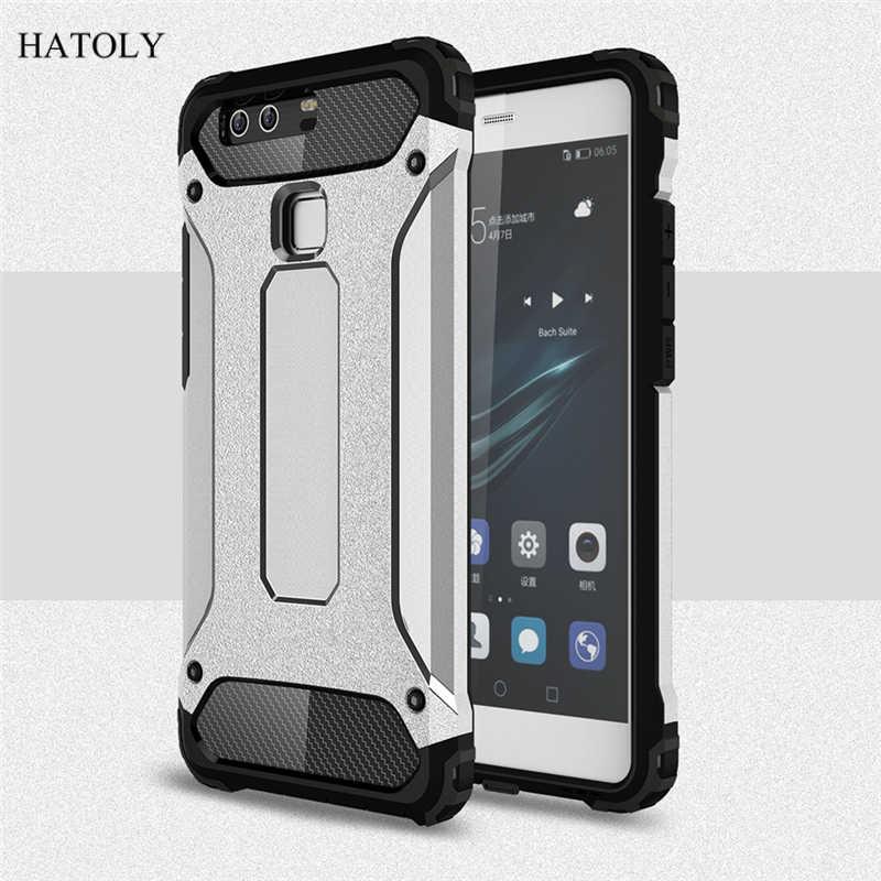 Per Huawei P9 Lite Custodia In Silicone Armatura Borsette Copertura Del Telefono Posteriore Dura Per Huawei P9 Lite Custodia protettiva Per Huawei p9 Lite 2016 <