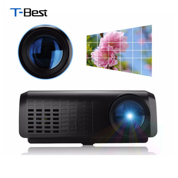 Excelvan E07 Mini LED LCD Projector Home Theater AV/USB/VGA/HDMI//TF 640*480 Proyector,100Lumen Projector With Playback Function
