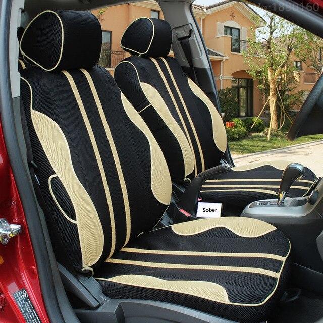 Alta Calidad Transpirable cubierta de asiento de coche Especial para Volvo V40 S60L v60 s60 xc60 xc90 xc60 c70 s80 s40 negro/gris del coche accesorios