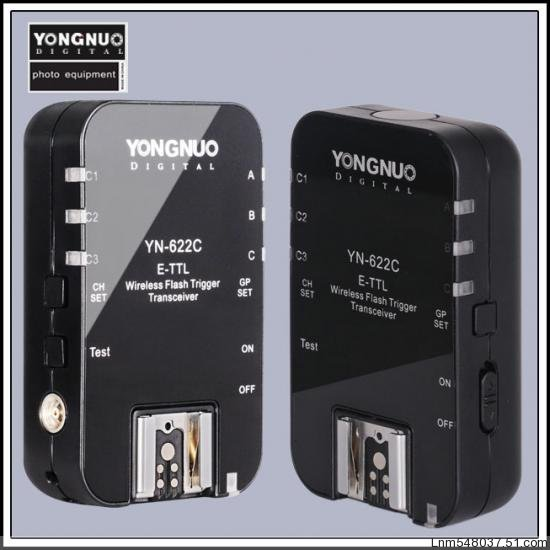 Fee shipping- New YONGNUO  YN-622 Wireless HSS 1/8000S ETTL Flash Trigger Transceiver Set For Canon acv pi 622