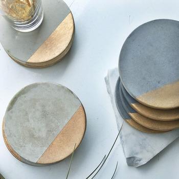Formy do tacek betonowych gipsowe formy okrągłe formy silikonowe do uchwytów betonowych 3 otwory formy tanie i dobre opinie coaster mold Silicone rubber LISM