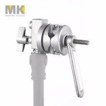 Meking 4-в-1 металлический зажимной головкой ложки с длинной ручкой для складывающаяся штанга микрофона штангу перекрестные штанги для крепления лампы светильник подставки Heavy Duty для c-стоек трубок Stuido
