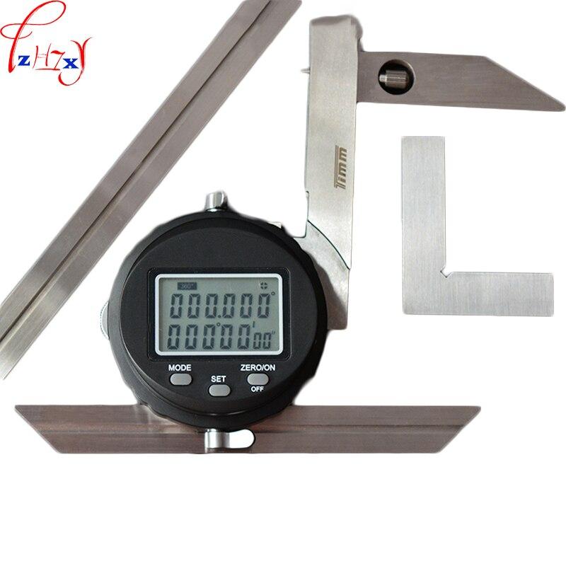 Affichage numérique règle d'angle universelle multi-fonction en acier inoxydable électronique haute précision outil de mesure d'angle 3 V