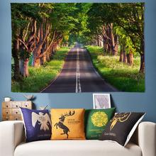 Large Tapestry Bohemian Wall Hanging Road Covered Trees 3D Art Decoration Tapestries Boho Decor Cloth 170x240