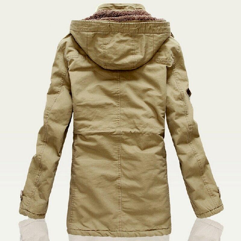2019 nouvelle mode hiver veste hommes Outwear respirant chaud manteau Parkas épaississement décontracté coton rembourré veste polaire Parkas-in Parkas from Vêtements homme    2