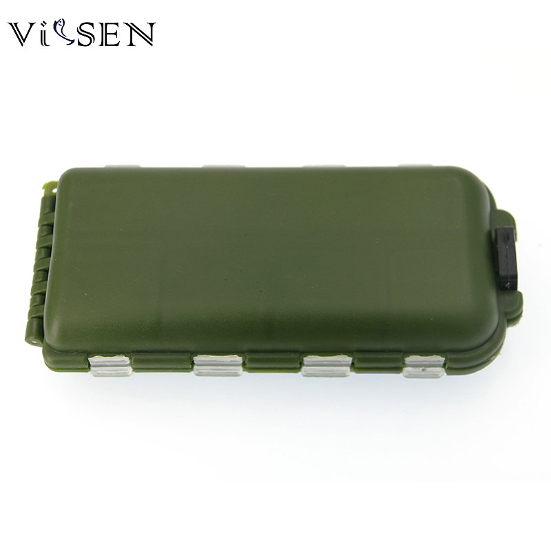 Vissen Fishing Box Accessories Waterproof Eco-Friendly Fishing Lure Bait Tackle Waterproof Storage Box Case With 16 Compartments