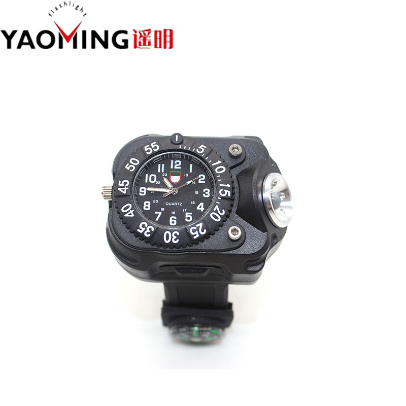 Nyt design CREE Q5 5-mode LED armbåndsur lommelygte fakkel Lanterna - Bærbar belysning