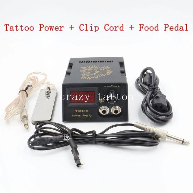 Цифровой ЖК Татуировки Питания С Зажимом Шнура Питания Педаль Pro Двойной Выход Татуировки Набор Аксессуаров Бесплатная Доставка