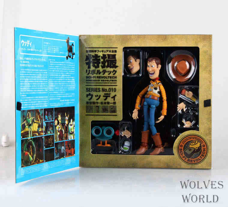 Frete Grátis Toy Story Woody Series NO. Sci-Fi 010 Revoltech Especiais PVC Action Figure Toy Collectible 16 cm KT3710