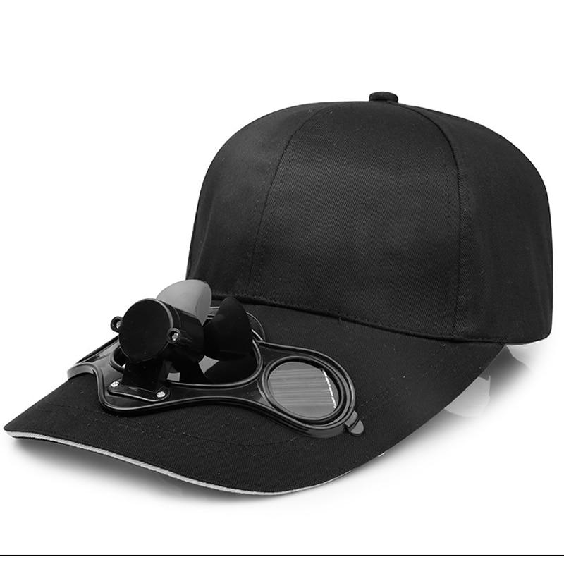 QBHAT Sommer Männer Frauen Sport Im Freien Sonnenschutz Baseball Hut Kappe mit Solar Sun Power Cooling Fan Lässig Sonnenblende kappe