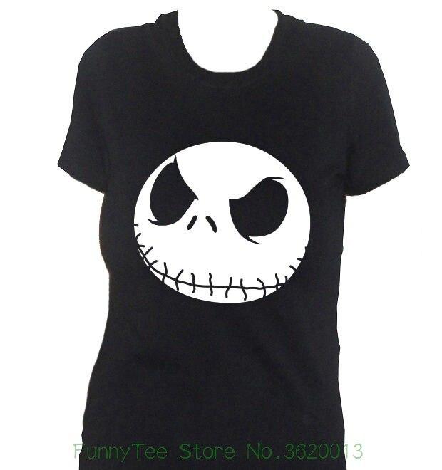 Womens Tee Fm10 Camiseta De Mujer Nightmare Before Navidad Jack Regalo Cine Casual Funny Tee Shirt Femme