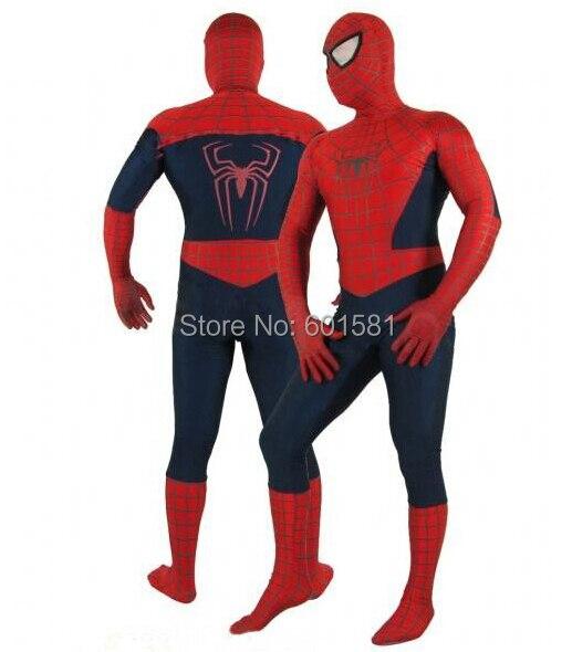 1 шт. Moda Хэллоуин Косплэй Удивительный Человек-паук 2 костюм спандекс высокой эластичностью паук костюм для Хэллоуина вечерние Show
