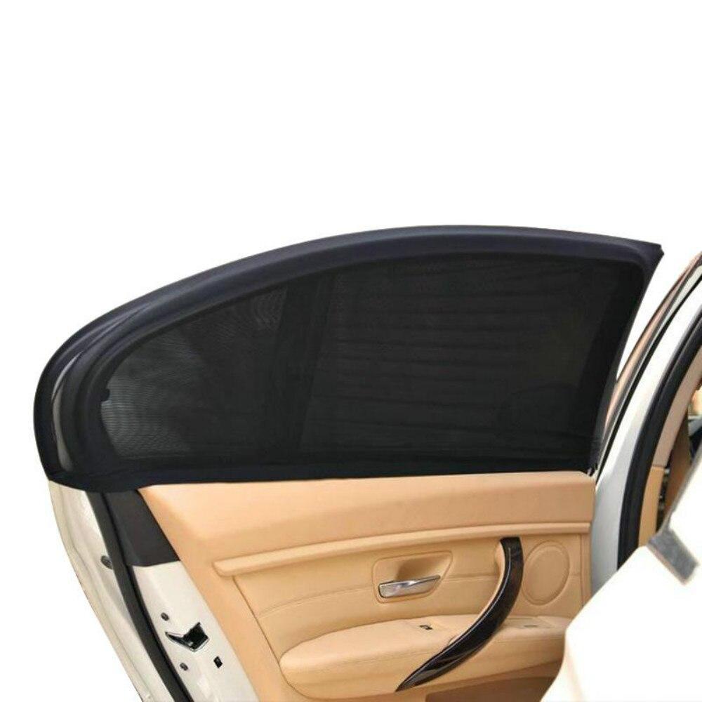 Vehemo 2Pcs 50*52cm Auto Car Vehicle Door Window UV Protection Shield Sun Shade Visor Cover Universal Black 2pcs 98 50 cm window sun shade black mesh cover child uv protector shield for most car auto car side rear window sun shade new