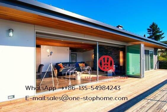 Porte bi-pliante, amérique du nord australie Europe standard luxe royal thermique break double verre aluminium portes pliantes conceptions