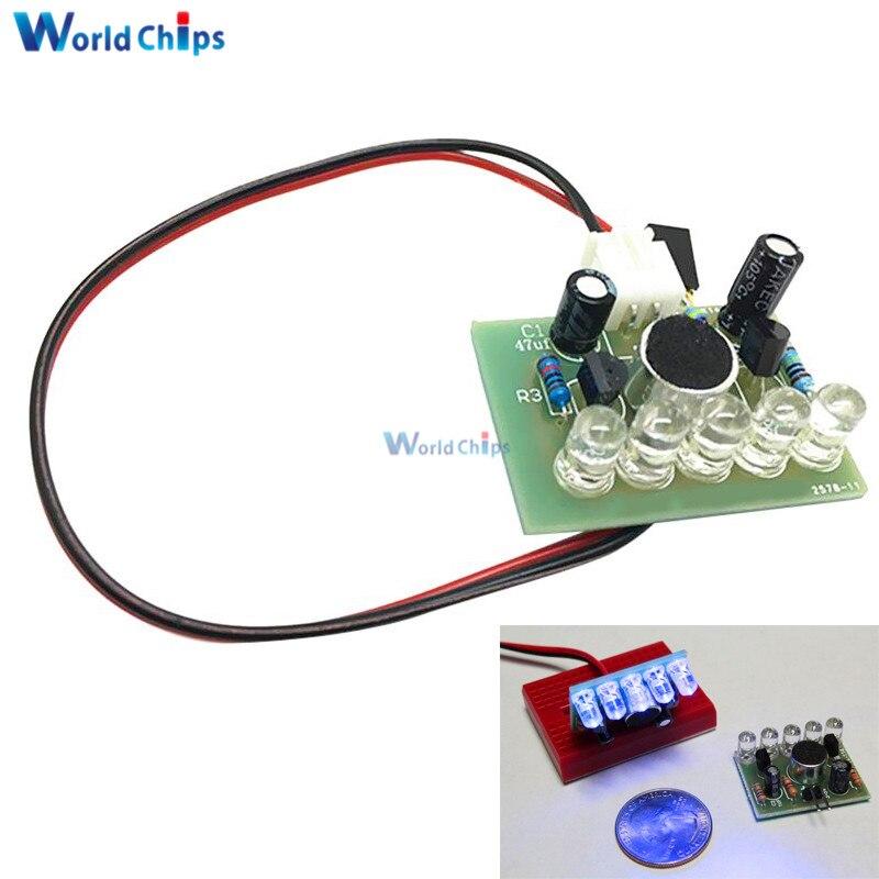 Sound Control LED Melody Lamp Electronic Production Kits Suite Voltage 3V-5.5V LED Sound Control DIY Kit FR-4 A Fiberglass Board