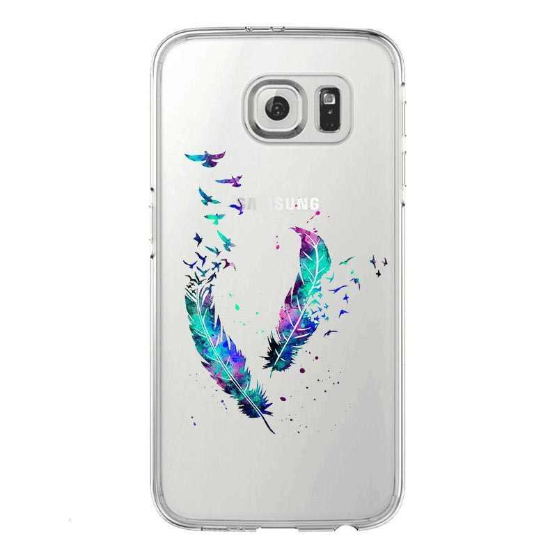 Akwarela książę kot ananas Audrey Hepburn słoń roszpunka miękkie etui z TPU na telefon dla Samsung Galaxy S5 S6 S7 krawędzi S8 S9 Plus
