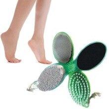 Fashion 4 In 1 Pedicure Tool Foot Nail Buffer Brush Callus Rasp Scrubs Pumice Stone Beauty