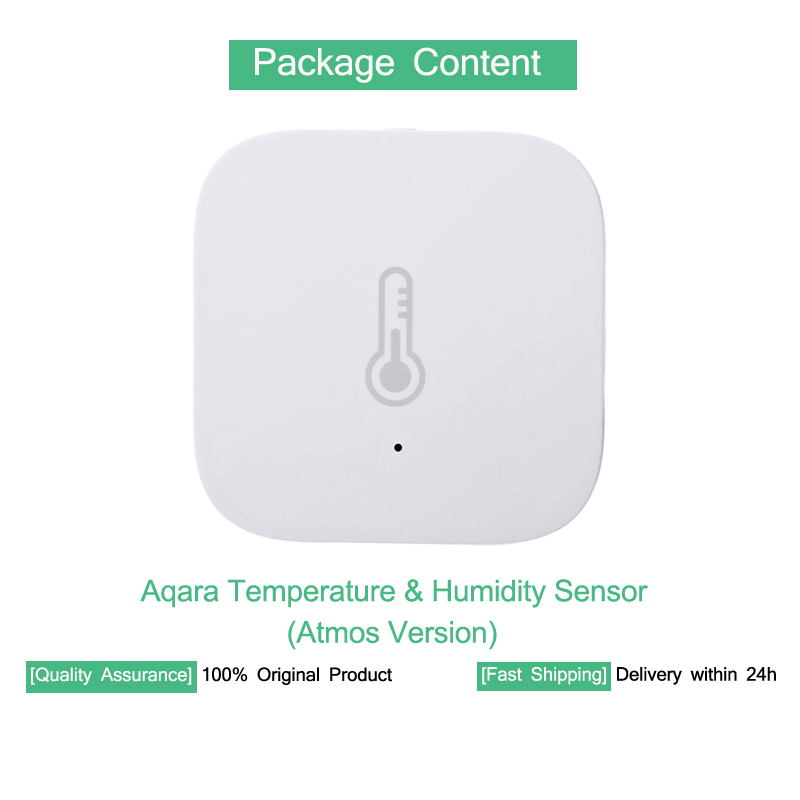 US $12 34 5% OFF|Xiaomi MIJIA Aqara Temperature & Humidity Sensor With  Battery Smart Home for Mi Home APP Multifunctional Hub Gateway Baby Care-in