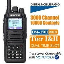 2020 Baofeng DM 1701 DMR Walkie Talkie Dual Slot de Tempo Digital/Analógico DMR Repetidor SMS Compatível com Moto dm1701