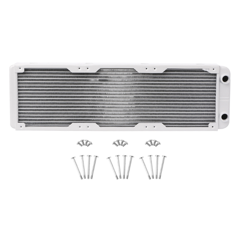 Professional 360mm Aluminum Computer Radiator Water Cooling  Cooler 18 Tube CPU Heat Sink Exchanger 240mm water cooling radiator g1 4 18 tubes aluminum computer water cooling heat sink for cpu led heatsink heat exchanger