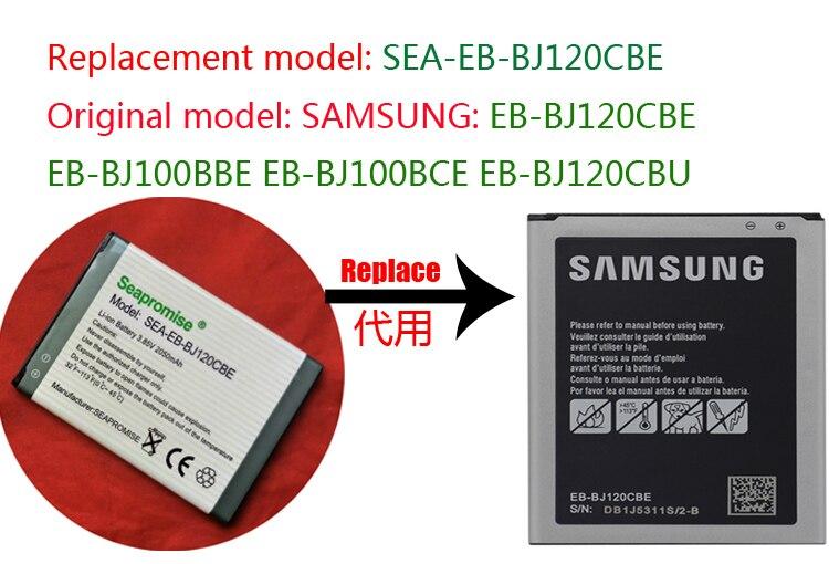 Varejo bateria EB-BJ120CBE para Galaxy J1 2016, Galaxy J1 4G, Galaxy Duos J1 2016, J120 J120F J120A J120H J120T