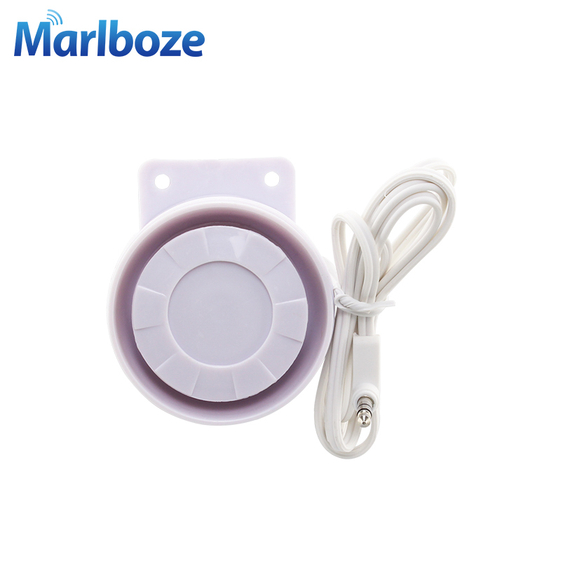 White <font><b>120DB</b></font> Mini Wired Siren Horn for Wireless Home Alarm Security System Alarm speaker Accessories image