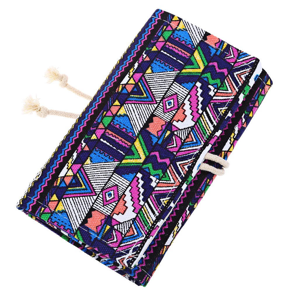 36 48 72 holes pencil bag school canvas painting for Canvas roll for painting