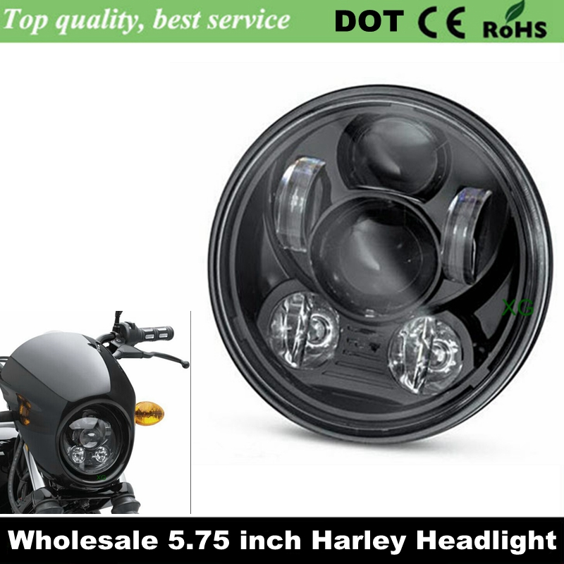 Home Open-Minded 2x For Harley Accessories 5 3/4 Led Head Light 5.75 Headlamp Motorcycle For Harley 5-3/4 Motorcycle Black Projector Motor Providing Amenities For The People; Making Life Easier For The Population
