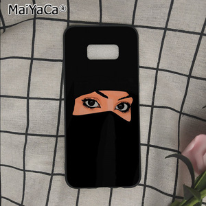 Image 2 - イスラム教徒イスラムグリルで目の女性のヒジャーブ顔電話ケースs9 s8プラス注8 note9 s7 s6edgeケースbabaite