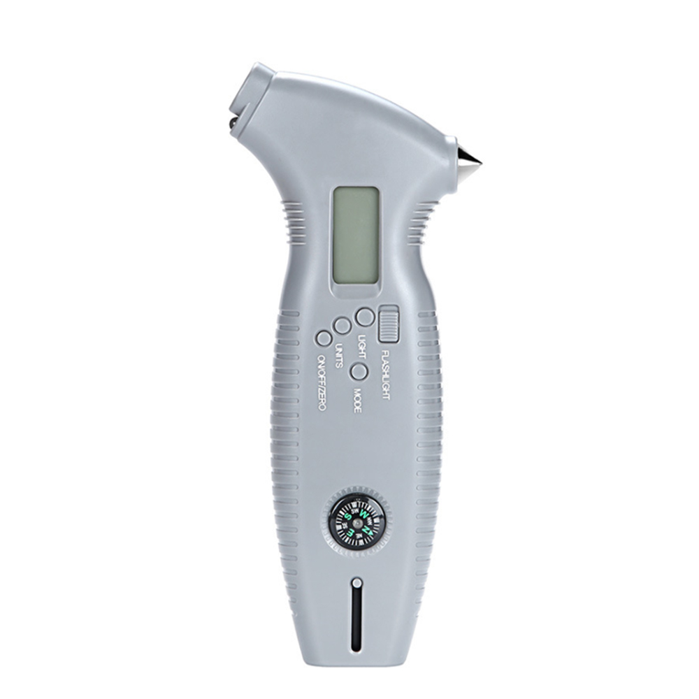 8 In 1 Professional Grade Digital Tire Pressure Gauge Backlight Cutter With A Safety Hammer With Safety Hammer,backlight Cutter