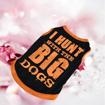 Pet Puppy Summer Vest Small Dog Sweatshirt Cat Dogs Clothing Cotton T Shirt Apparel Black Clothes for Teddy Chihuahua Dog Shirt