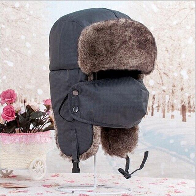 4fc83159122 Children Boy Girl Super Thick warm Leifeng Trooper Trapper Snowboard Winter  Aviator Bomber Earflap Kids Hat