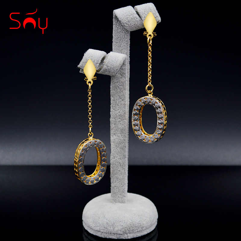 Sunny Jewelry Fashion Jewelry 2019 Long Drop Dangle Women's Earrings Exquisite Jewelry Round Hollow For Wedding Party Daily Gift