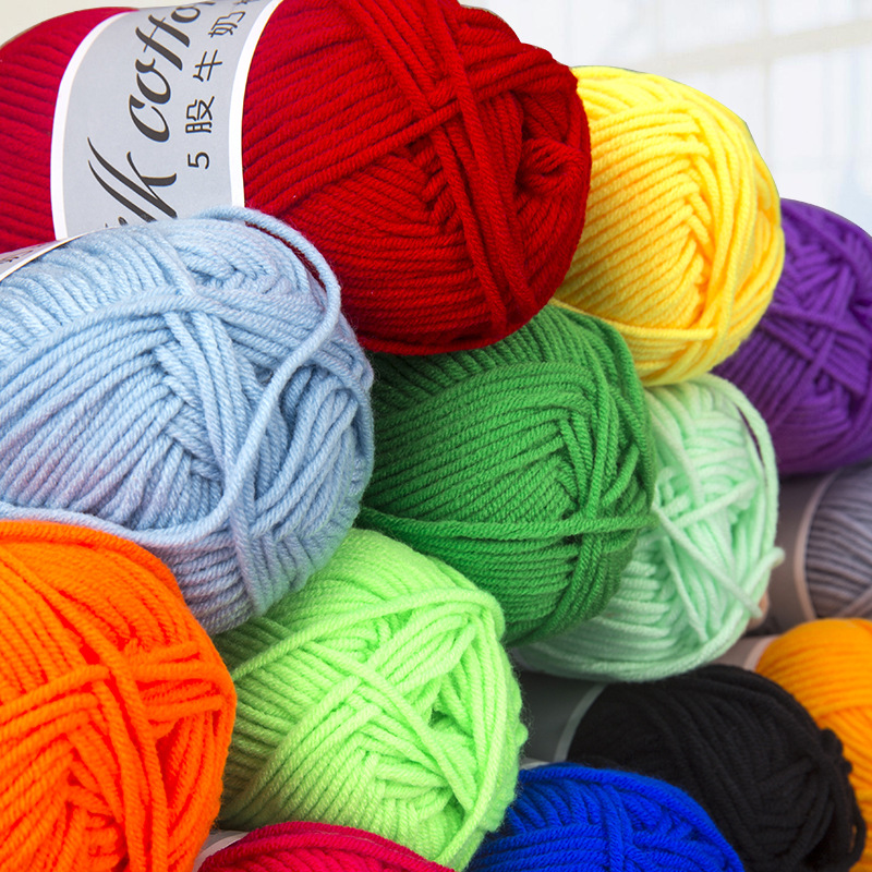 50g/lot High Quality DIY Milk Cotton Knitting Yarn Baby Wool for Scarf Hand Crochet