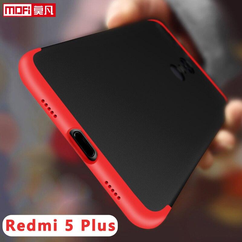 Xiaomi Redmi 5 Plus Case Cover Mofi Original 360 Armor Shockproof Black Hard Xiaomi Redmi 5plus Case for Xiaomi Redmi 5 Plus