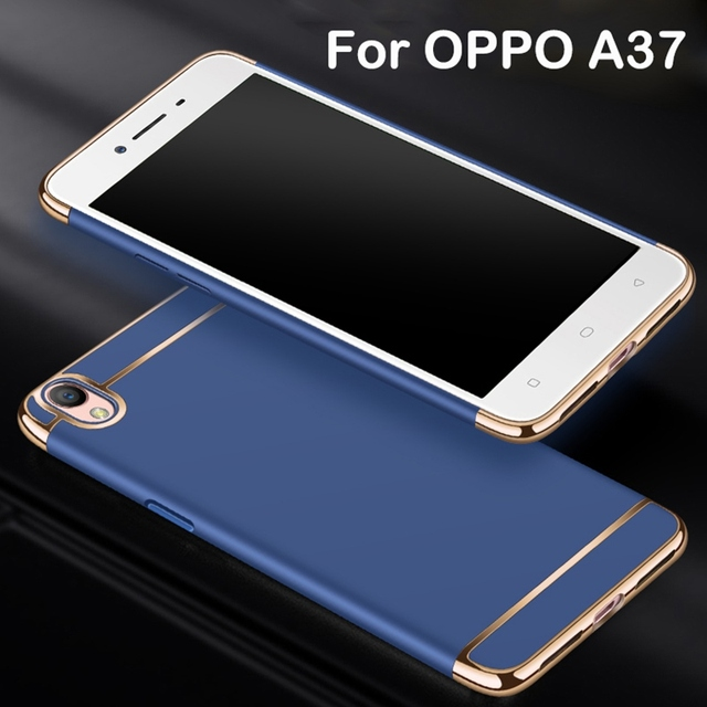 the latest af83d 0c9e0 US $4.99  2017 Fashion Phone Cases For OPPO A37 Case Cover Back Cover 3 In  1 Ultra Thin Mental Plating Case Glossy Removable Phone Bags-in Fitted ...