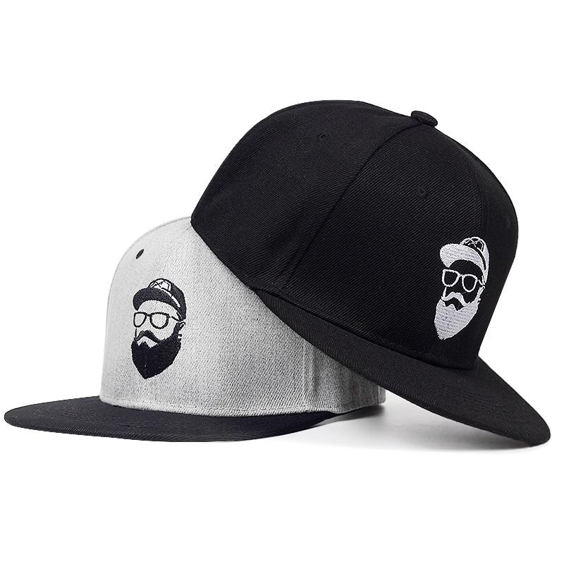 2018 New Original Grey Cool Hip Hop Cap Men Women Hats Vintage Embroidery Character Baseball Caps Gorras Planas Bone Snapback