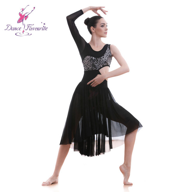 7e18fd4c9bc0 18589 Dance Favourite New Lyrical & Contemporary Dance Costumes Black mesh  and lace ballet dress dance costumes