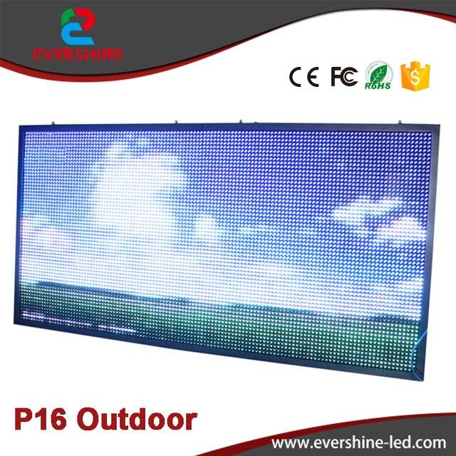 Открытый P16 RGB Полноцветный СВЕТОДИОДНЫЙ Рекламного Щита Размером 2 м х 1 м Alibaba выразить Количество Стены