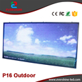 Outdoor P16 RGB Full Color Video LED Advertising Panel Size 2m x 1m  Alibaba express Amount Wall