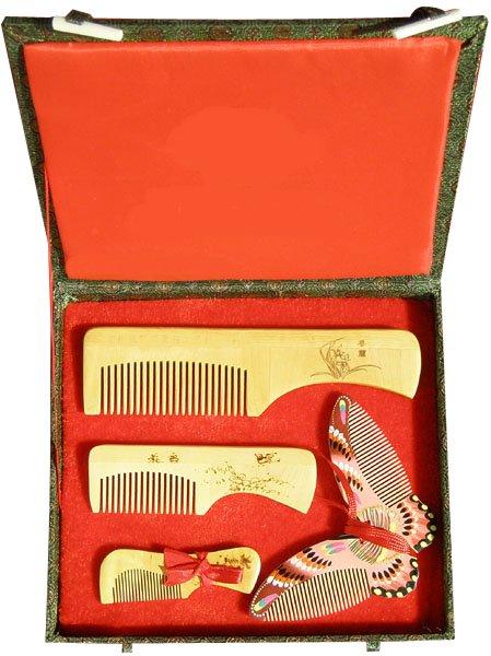 2017 New!guaranteed 100% Chinese Characteristics Gift Boxwood Comb Butterfly Group High Grade Wedding Or Business Gift-ac188-1 бутылочки ramili противоколиковая ab2100